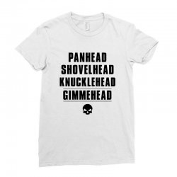harley davidson t shirt gimmehead t shirt knucklehead engine Ladies Fitted T-Shirt | Artistshot