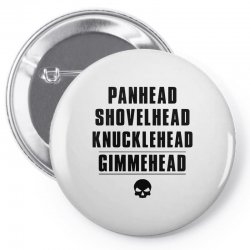 harley davidson t shirt gimmehead t shirt knucklehead engine Pin-back button | Artistshot