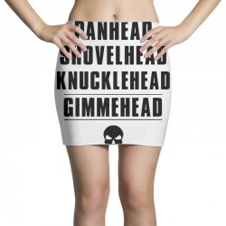 harley davidson t shirt gimmehead t shirt knucklehead engine Mini Skirts | Artistshot
