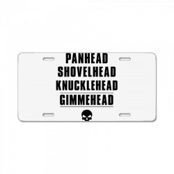 harley davidson t shirt gimmehead t shirt knucklehead engine License Plate | Artistshot