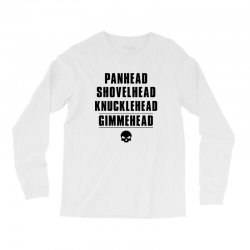 harley davidson t shirt gimmehead t shirt knucklehead engine Long Sleeve Shirts | Artistshot