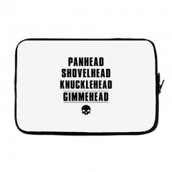 harley davidson t shirt gimmehead t shirt knucklehead engine Laptop sleeve | Artistshot