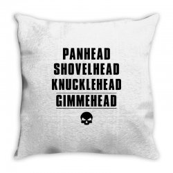 harley davidson t shirt gimmehead t shirt knucklehead engine Throw Pillow | Artistshot
