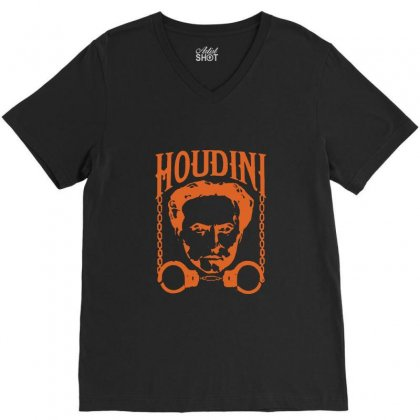 Harry Houdini T Shirt Vintage Harry Houdini T Shirt V-neck Tee Designed By Tee Shop