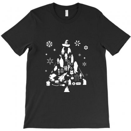 Harry Potter Christmas Tree Silhouette T-shirt Designed By Tee Shop