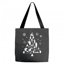 harry potter christmas tree silhouette Tote Bags | Artistshot