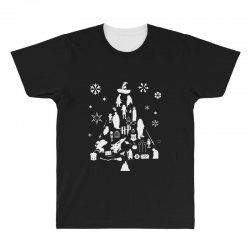 harry potter christmas tree silhouette All Over Men's T-shirt | Artistshot