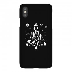 harry potter christmas tree silhouette iPhoneX Case | Artistshot