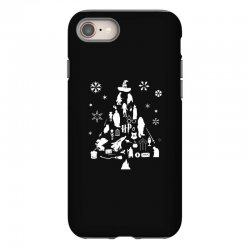 harry potter christmas tree silhouette iPhone 8 Case | Artistshot