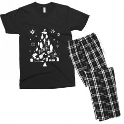 harry potter christmas tree silhouette Men's T-shirt Pajama Set | Artistshot