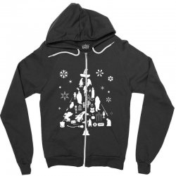 harry potter christmas tree silhouette Zipper Hoodie | Artistshot
