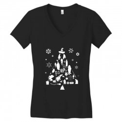 harry potter christmas tree silhouette Women's V-Neck T-Shirt | Artistshot