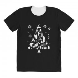 harry potter christmas tree silhouette All Over Women's T-shirt | Artistshot