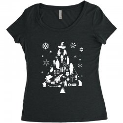 harry potter christmas tree silhouette Women's Triblend Scoop T-shirt | Artistshot
