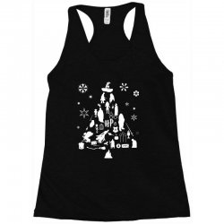 harry potter christmas tree silhouette Racerback Tank | Artistshot