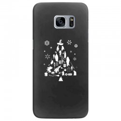 harry potter christmas tree silhouette Samsung Galaxy S7 Edge Case | Artistshot