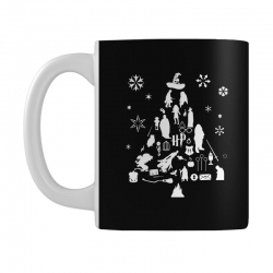 harry potter christmas tree silhouette Mug | Artistshot