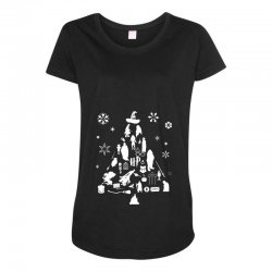 harry potter christmas tree silhouette Maternity Scoop Neck T-shirt | Artistshot