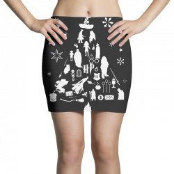 harry potter christmas tree silhouette Mini Skirts | Artistshot