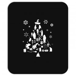 harry potter christmas tree silhouette Mousepad | Artistshot