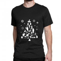 harry potter christmas tree silhouette Classic T-shirt | Artistshot