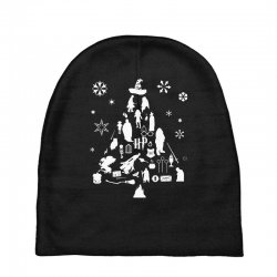 harry potter christmas tree silhouette Baby Beanies | Artistshot