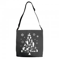 harry potter christmas tree silhouette Adjustable Strap Totes | Artistshot