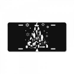 harry potter christmas tree silhouette License Plate | Artistshot