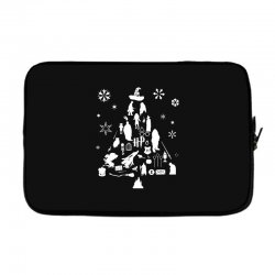harry potter christmas tree silhouette Laptop sleeve | Artistshot