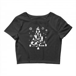 harry potter christmas tree silhouette Crop Top | Artistshot
