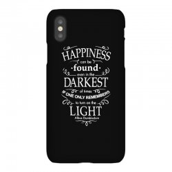 harry potter dumbledore happiness quote iPhoneX Case | Artistshot