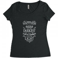 harry potter dumbledore happiness quote Women's Triblend Scoop T-shirt | Artistshot