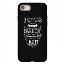 harry potter dumbledore happiness quote iPhone 8 Case | Artistshot