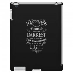 harry potter dumbledore happiness quote iPad 3 and 4 Case | Artistshot