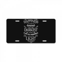 harry potter dumbledore happiness quote License Plate | Artistshot