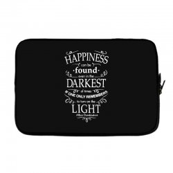 harry potter dumbledore happiness quote Laptop sleeve | Artistshot