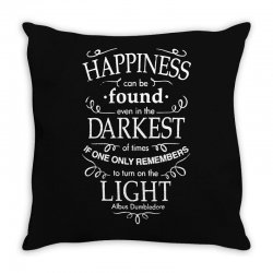 harry potter dumbledore happiness quote Throw Pillow | Artistshot