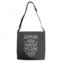 harry potter dumbledore happiness quote Adjustable Strap Totes | Artistshot
