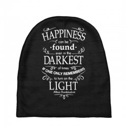 harry potter dumbledore happiness quote Baby Beanies | Artistshot