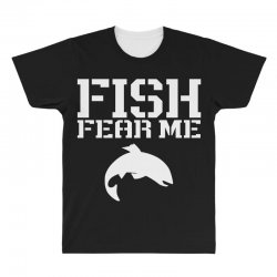fish fear me funny fishing All Over Men's T-shirt | Artistshot