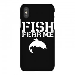 fish fear me funny fishing iPhoneX Case | Artistshot