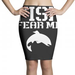 fish fear me funny fishing Pencil Skirts | Artistshot