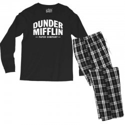 dunder mifflin paper company Men's Long Sleeve Pajama Set | Artistshot