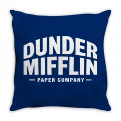 dunder mifflin paper company Throw Pillow | Artistshot