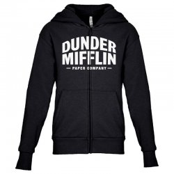 dunder mifflin paper company Youth Zipper Hoodie | Artistshot
