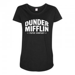 dunder mifflin paper company Maternity Scoop Neck T-shirt | Artistshot
