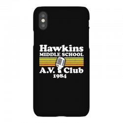 hawkins middle school av club iPhoneX Case | Artistshot