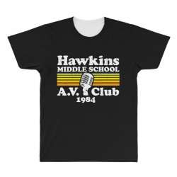 hawkins middle school av club All Over Men's T-shirt | Artistshot