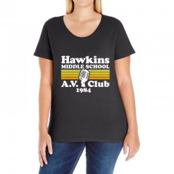 hawkins middle school av club Ladies Curvy T-Shirt | Artistshot