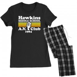 hawkins middle school av club Women's Pajamas Set | Artistshot